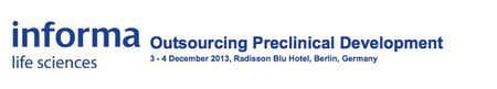 Outsourcing Preclinical Development at Radisson Blu Hotel on 03-04 December, 2013 at 10:00-18:00. ---- Attend Europe's only preclinical outsourcing event to make sure you are employing the most effective outsourcing strategies to ensure cost effective and risk free preclinical development. ---- Category: Conferences. ---- Price: £2,158.80 - £3,117.60. ---- Venue details: Radisson Blu Hotel, Karl-Liebknecht-Strasse 3, Berlin, Germany.
