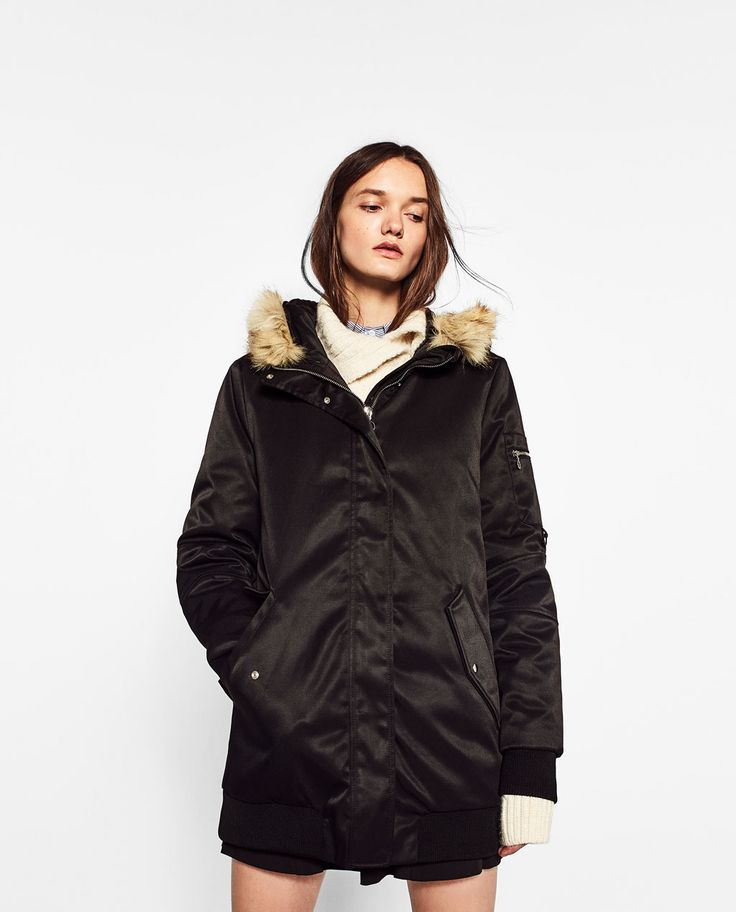 DOWN PARKA WITH A HOOD