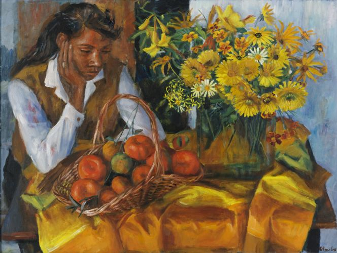 Margaret Olley | Patricia with Fruit and Flowers 1965