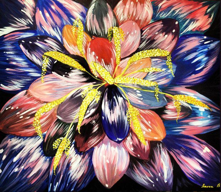 Lotus Flower Canvas 50x60 (for sale) https://www.facebook.com/pages/Jolie-Art-Home-Design/165204490349079?ref=ts&fref=ts www.newartists.se