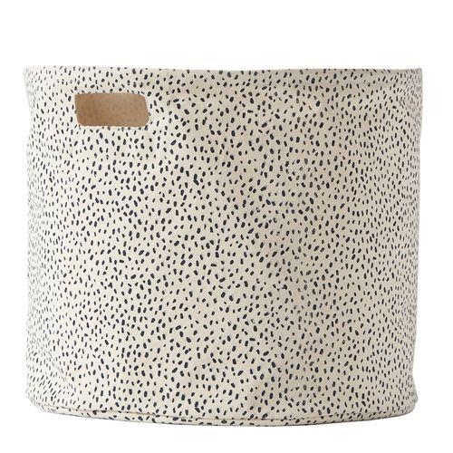 Pehr Storage Drum- navy dots, stripes