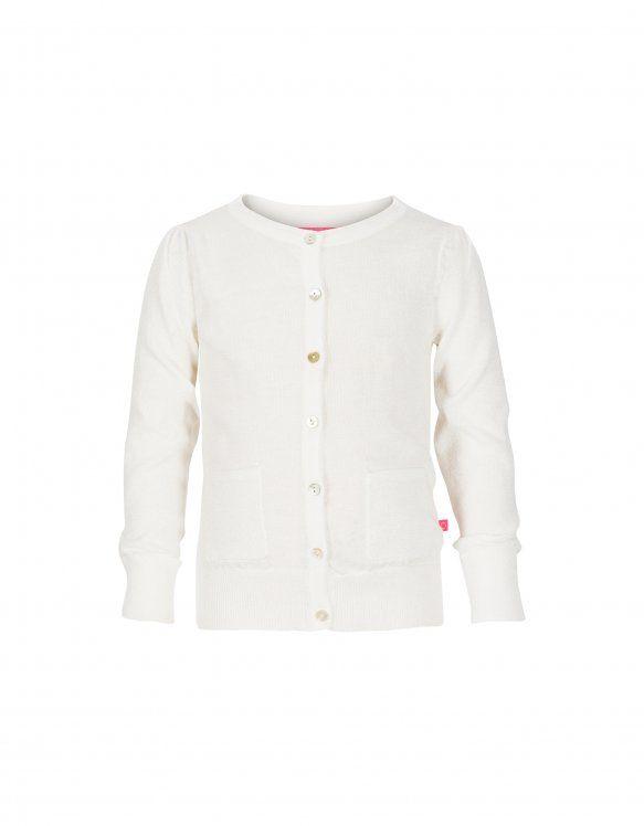 Wit vest met glitters voor meisjes - LE BIG