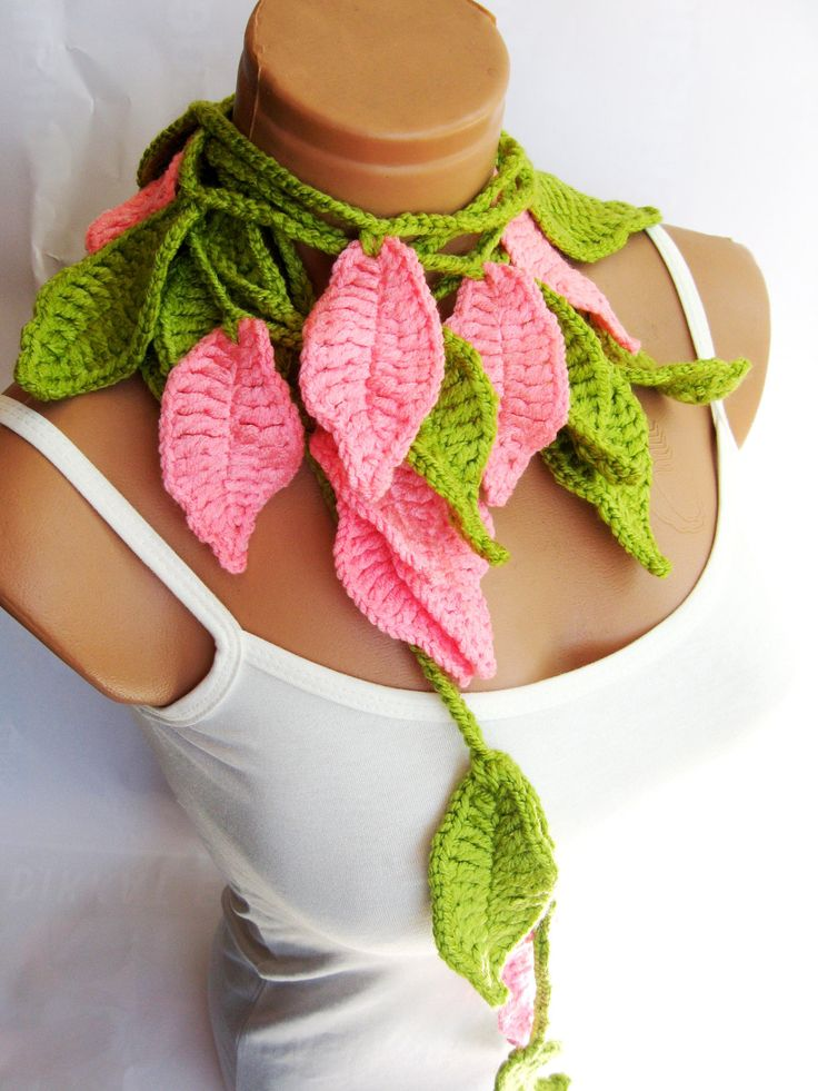 Crochet Scarf Pattern Leaf : 17 Best images about Crochet Leaf on Pinterest Irish ...