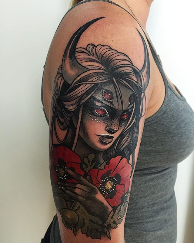 Pin By Mirza Ribic On Tattoo Ideas: Awesome Piece By The Witch Doctor Herself Miryam Lumpini