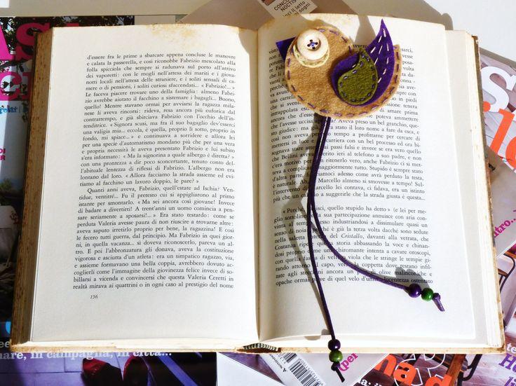 Uccellino di zampe lunghe  Segnalibro di feltro fatto 100% a mano da Fanciulla Accessori http://www.facebook.com/FANCIULLAACCESSORI