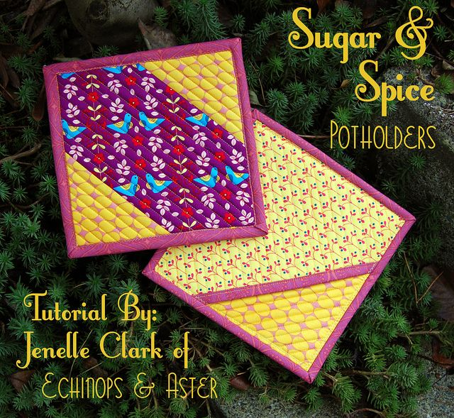 Sugar & Spice Pocket Potholders tutorial