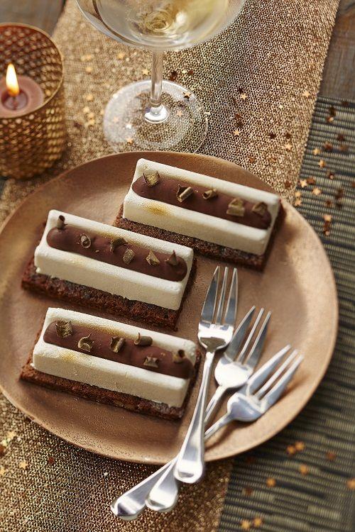 Mini bûches brownie/vanille
