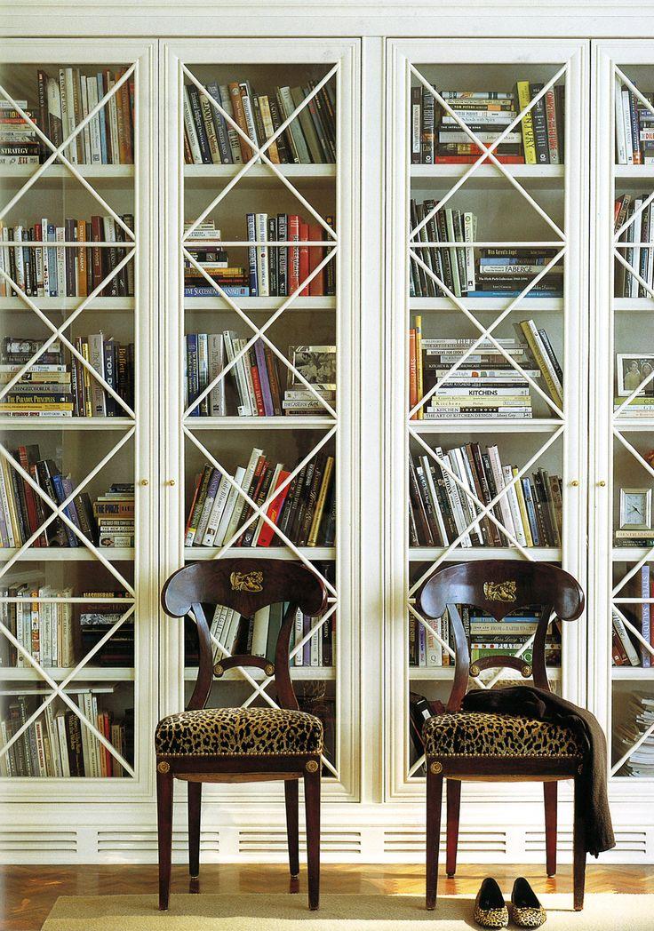 Suzanne Kasler - Study Joinery Bookshelves