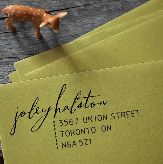 :: address stamp :: available via EtsyIdeas, Medium Length Hair, Calligraphy, Custom Address, Address Labels, Rubber Stamps, Returns Address, Housewarming Gifts, Address Stamps