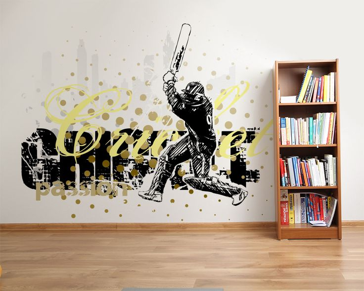 Wallpaper Sticker CRICKET PASSION by Sticky!!!