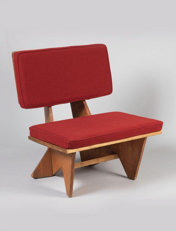 Frank Lloyd Wright; Plywood 'Usonian' Chair, c1950.