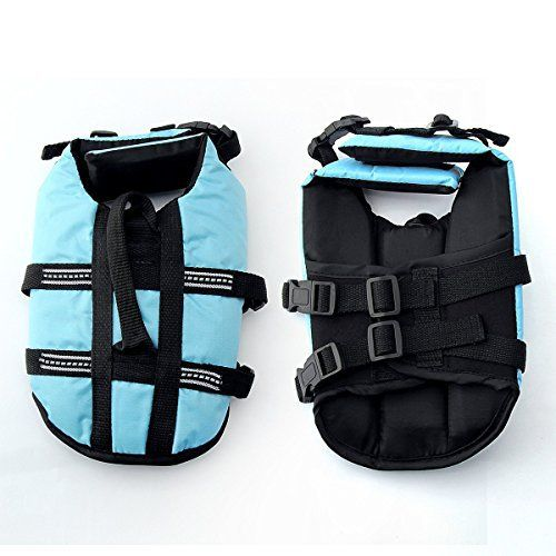 JZHY Dog Life Jacket Safety Clothes Swimming life jackets Swimwear with Adjustable Belt for Dog Pet Size S Color Blue - http://www.thepuppy.org/jzhy-dog-life-jacket-safety-clothes-swimming-life-jackets-swimwear-with-adjustable-belt-for-dog-pet-size-s-color-blue/