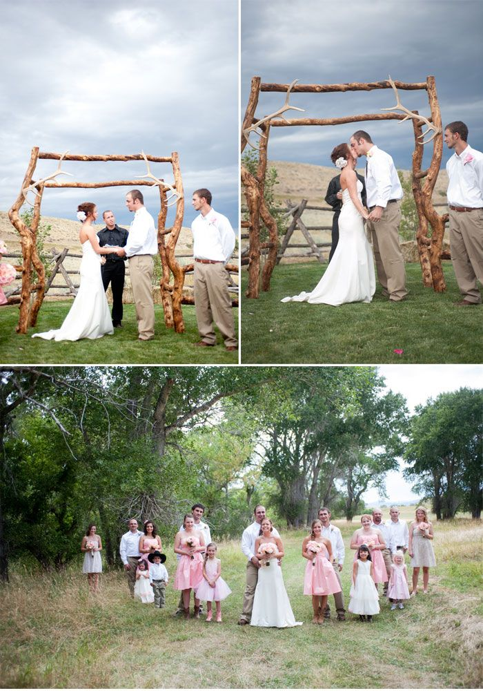 Low Cost Rustic Reception Ideas | Crafty Low  Budget Wedding With Sweet DIY  Details Monday