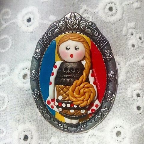 Traditional 👧 ° • ° •  #polymerclay #nationalflag #doll #cute #traditional #charm #brooch #national #design #decorations #tiny #kawaii #handmade #polymer #clay #art #romanian #peasant #romania #figure #decoration #clay #unique #ooak #oneofakind #miniacreations #creations #sculpey #fimo #cute