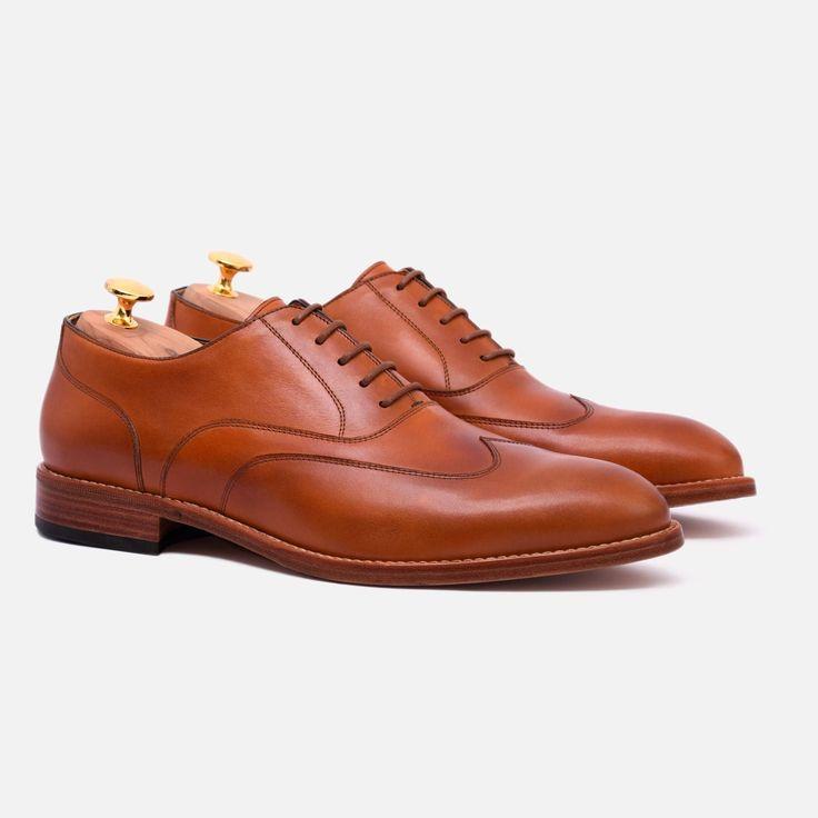 Wright Austerity Brogue - Calfskin Leather - Tan