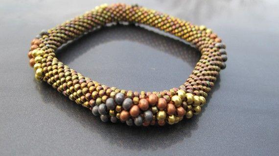 Bead Crochet Pattern  Overlapping Diamonds by WearableArtEmporium, $7.50