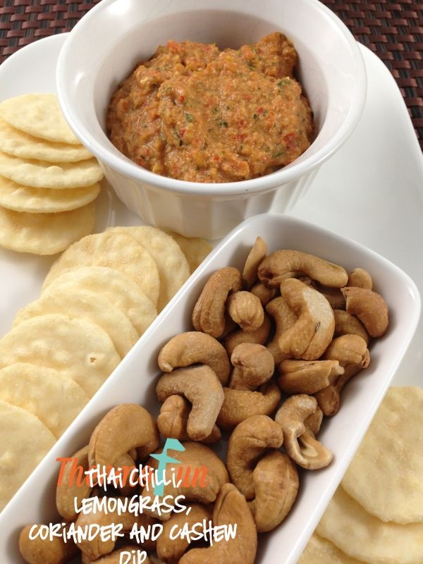 Thai Chilli Lemongrass Dip ThermoFun Thai Chilli, Lemongrass, Coriander and Cashew Dip Recipe
