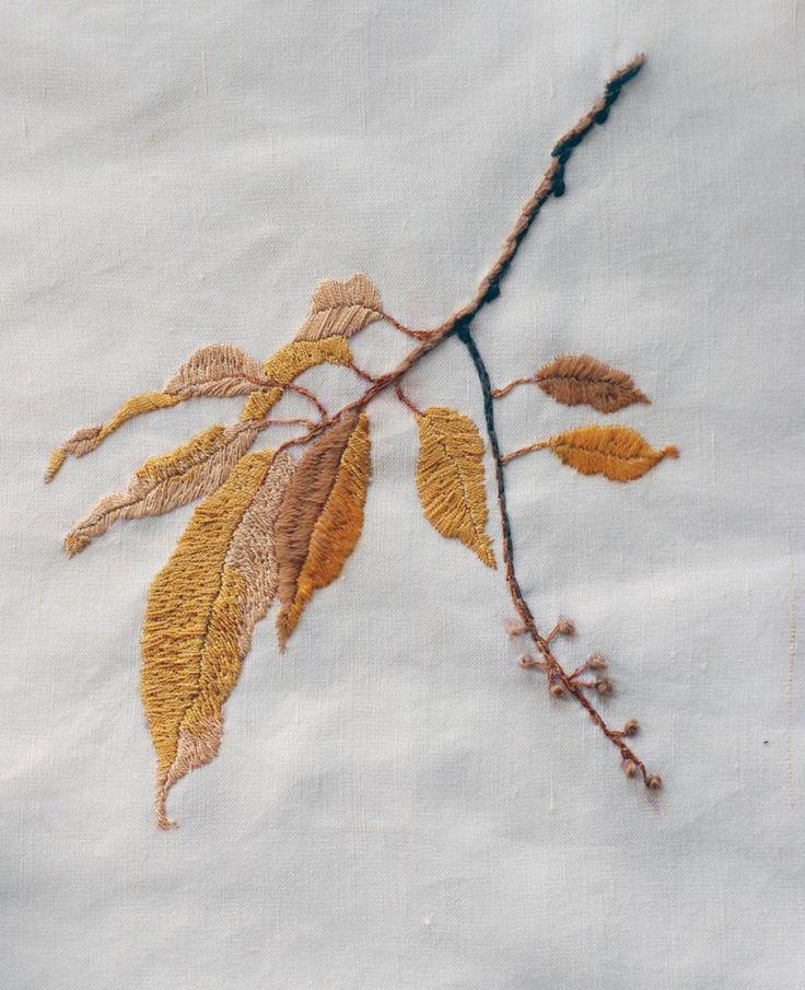 natalie stopka - botanical embroidery: choke cherry