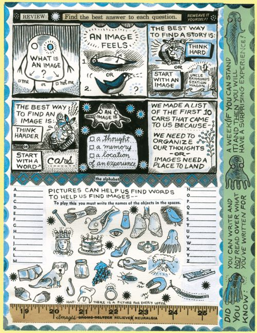 Lynda Barry helps organize your thoughts and make new ones.