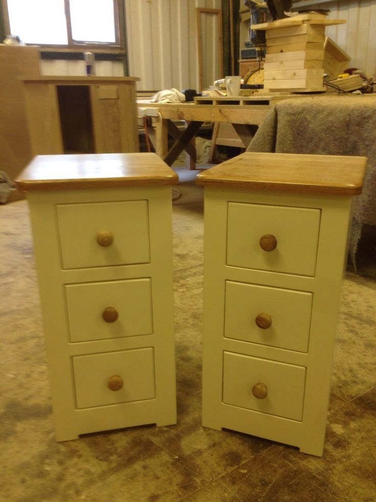 Made to measure painted bedsides