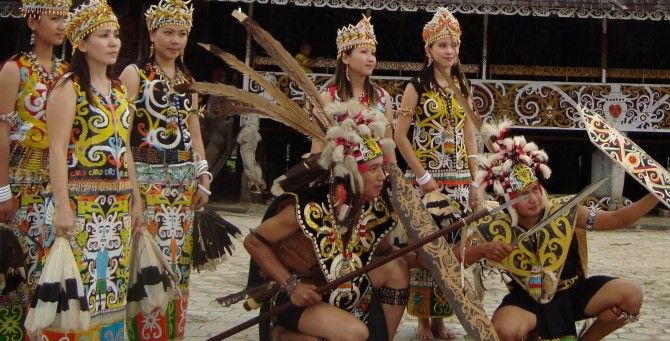 Tribe - Dayak - Head Hunters - Traditional Outfit