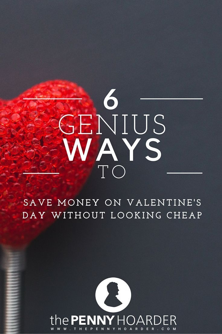 Romantic dinners, gifts and chocolate all add up, and Valentine's Day can get expensive fast. Try these cheap Valentine's Day ideas to celebrate your love without blowing your budget. - The Penny Hoarder http://www.thepennyhoarder.com/cheap-valentines-day-ideas-that-dont-look-cheap/
