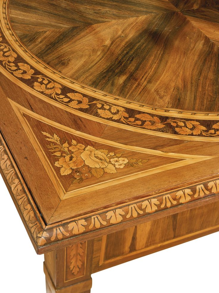 An Italian Neoclassical Rosewood, Amaranth, Fruitwood And Marquetry Games  Table In The Manner Of