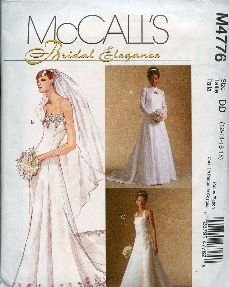 Fresh Bridal Sewing Pattern Strapless Wedding Gown with Shrug ebay