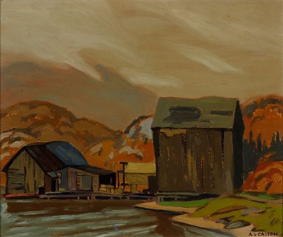 Artwork by Alfred Joseph Casson, Ice House, Coldwell Bay, Made of oil on board