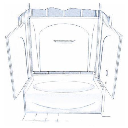 25 Best Ideas About One Piece Tub Shower On Pinterest One Piece Shower Fi