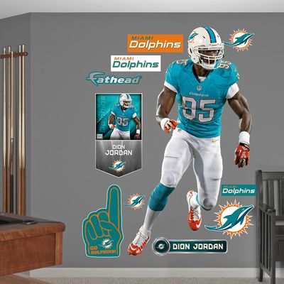 NFL Miami Dolphins Dion Jordan Wall Decal