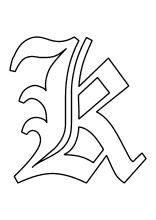 buchstabe grosses k | buchstaben, alphabet buchstaben, vorlagen