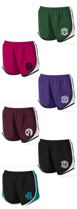 Monogrammed Running Shorts from Marleylilly.com