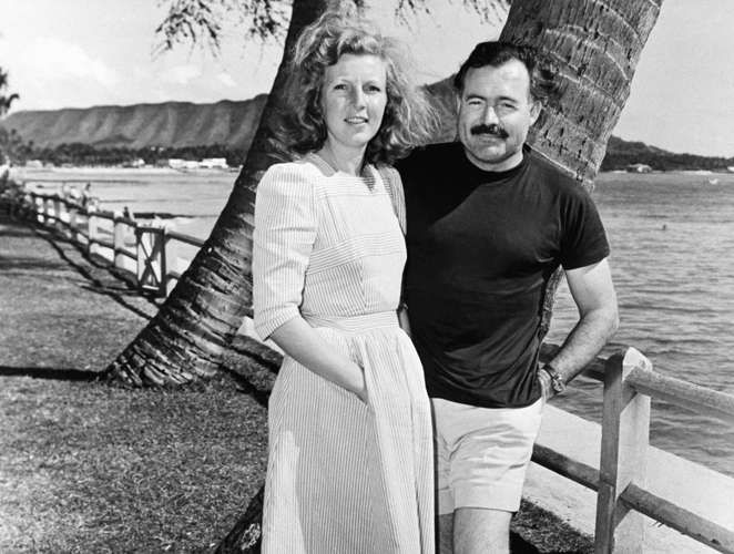Image result for photos of ernest hemingway and Gellhorn in Spain