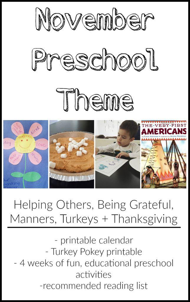 Classroom Ideas For November ~ The best november preschool themes ideas on pinterest