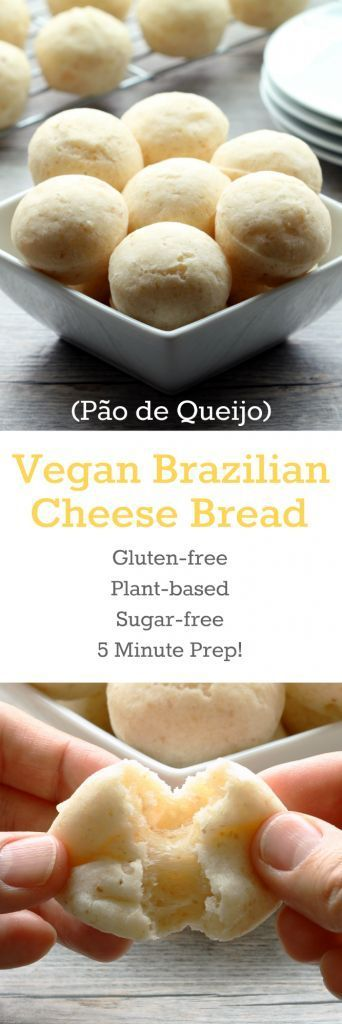 """These light and fluffy gluten-free balls of """"cheesy"""" bread goodness require only 5 minutes of prep!"""