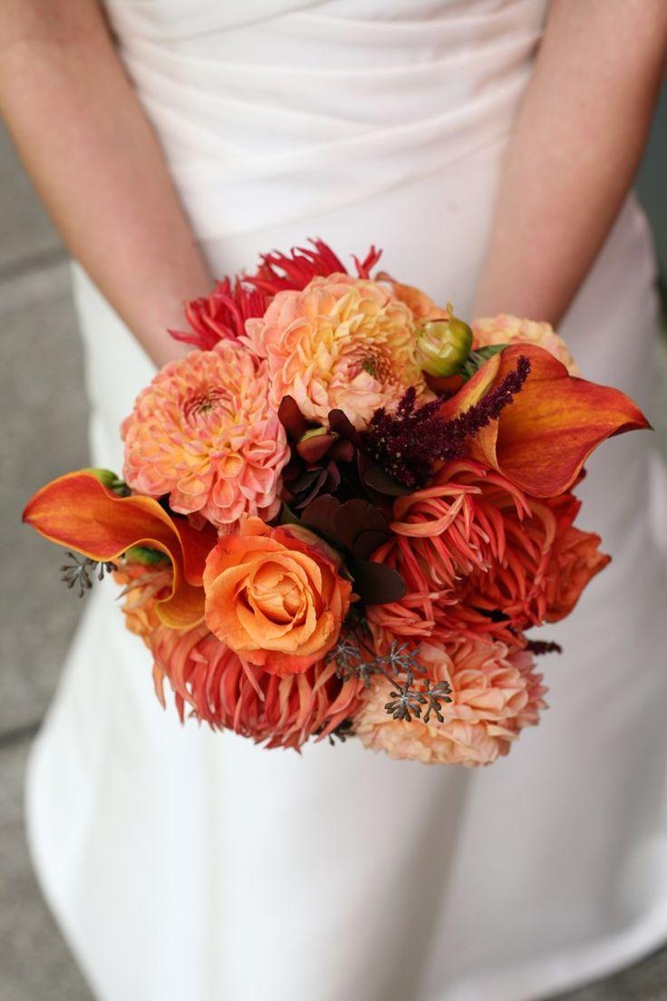 Classic autumn flower wedding bouquet