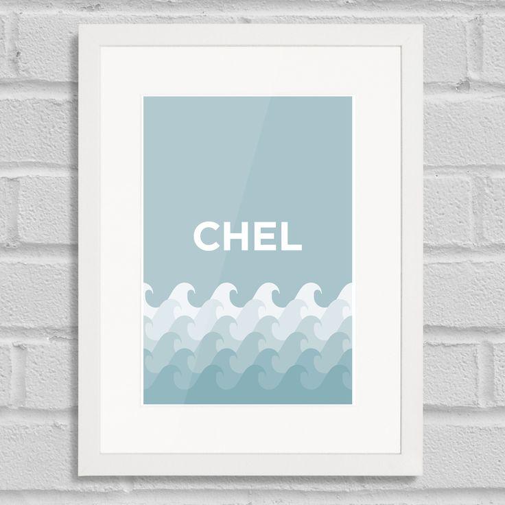 Pate Chelsea Art Poster Print Place Pun White Frame