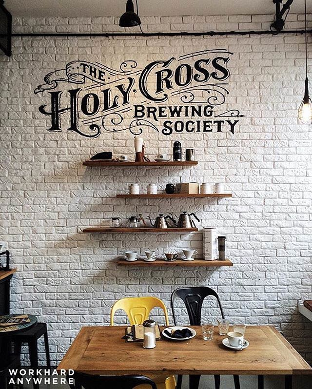 Frankfurt, Germany (The Holy Cross Brewing Society @the_holy_cross_brewing_society)  by Sonny (@sonnyhosea) ⚡ Use our app to find the best cafes and spaces to work from. -- Morning calls for coffee – Sonny is at The Holy Cross Brewing Society in Frankfurt, Germany. -- #workhardanywhere