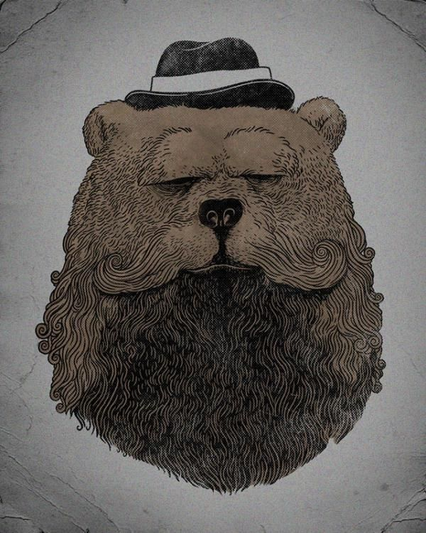 Grizzly beard Alex Solis is a Chicago, Illinois based illustrator and graphic designer