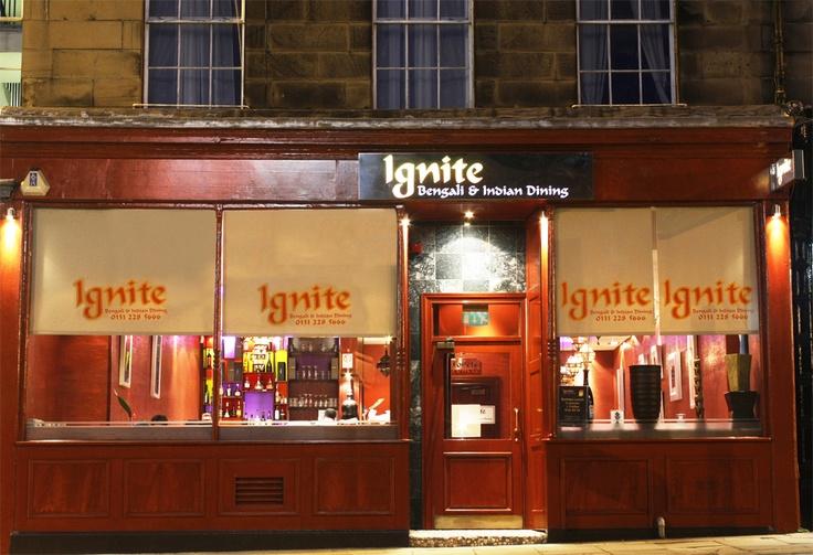 Ignite Indian and Bengali restaurant, Edinburgh.