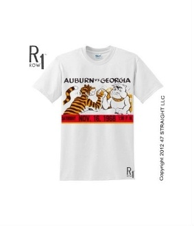 $23.99 Football gifts made from authentic football tickets. The best Georgia football gifts and hundreds of other football gifts are at http://www.shop.47straightposters.com/1968-GEORGIA-VS-AUBURN-Football-Ticket-Shirt-68GAAUB.htm