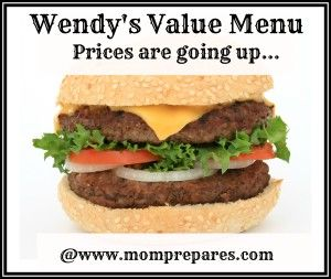 Wendy's Value Menu: Price inflation.... will Wendy's still be getting your biz?
