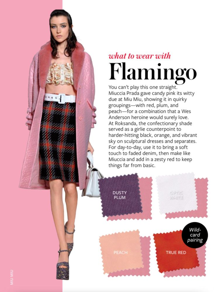 Instyle What to Wear with Flamingo