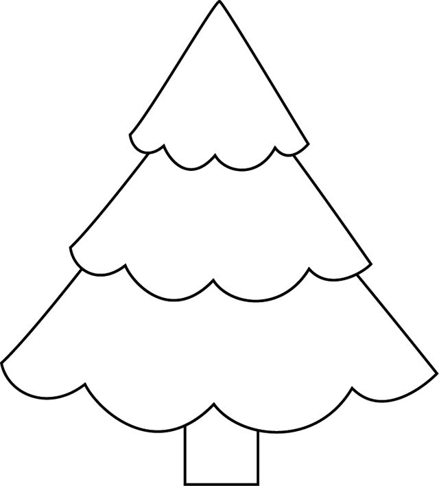 Christmas tree coloring coloriage coloring simple - Dessin arbre simple ...