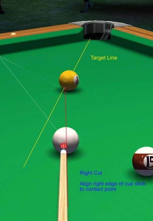 Shaft Edge Aiming System Right Cut Pool Pinterest
