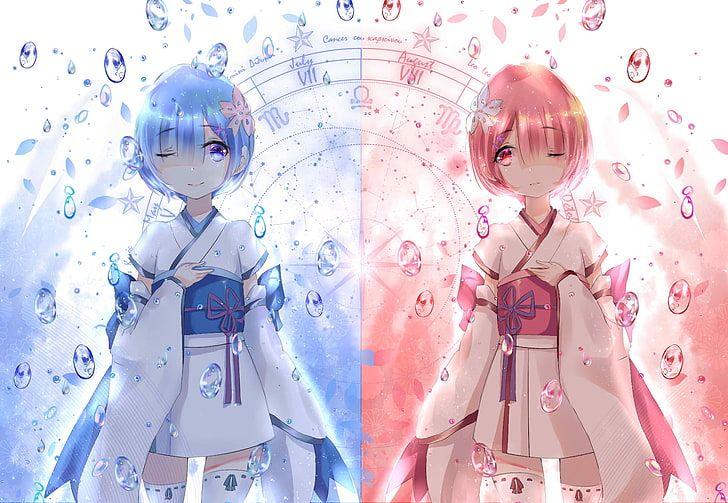 Ram And Rem Of Re Zero Digital Wallpaper Re Zero Kara Hajimeru Isekai Seikatsu Hd Wallpaper Hd Anime Wallpapers Ram And Rem Digital Wallpaper