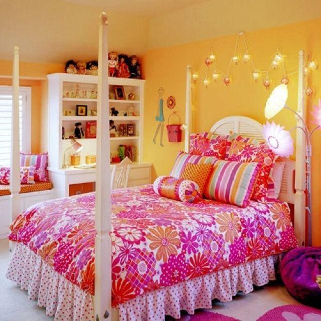 Orange Bedrooms For Girls Bedroom Sets With Led Lights Bedroom Decor Pinterest Black Bedroom Furniture Uk: 1000+ Images About Orange And Pink Rooms On Pinterest