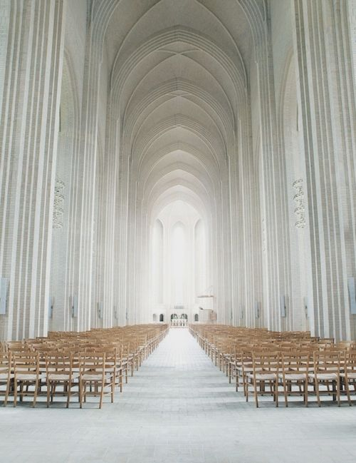 Grundtvig Church in Copenhagen, Denmark. Jensen-Klint design.