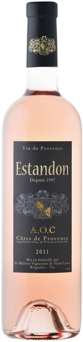 Vignerons de Provence, Estandon Rose, Cotes de Provence AOC, 2011 - drunk in Provo